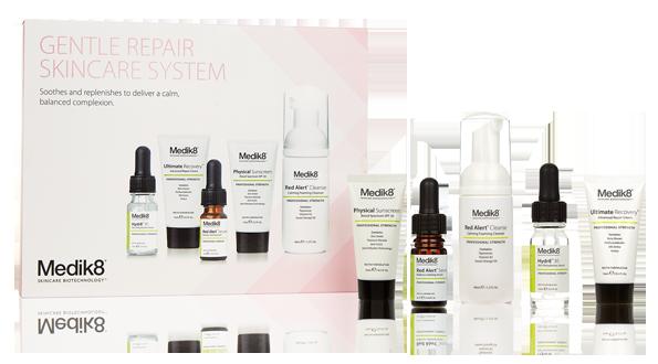 Medik8 Gentle Repair skincare system herkän ihon kotihoitotuotteet